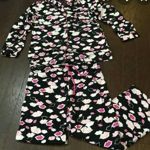 Hot Lips Flannel Pajamas Sleepwear Lounge